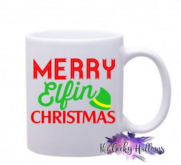 Christmas Coffee Mugs.Merry Elfin Christmas Coffee Mug Travel Mug Coffee Cup Gift Grinch Elf Gifts 11oz Coffee Mug