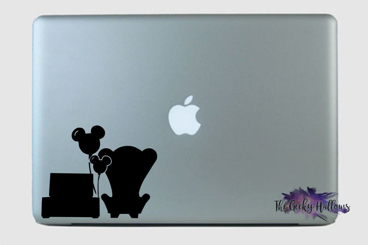Disney up couple chairs pixar ellie and carl disney inspired macbook laptop car window vinyl decal