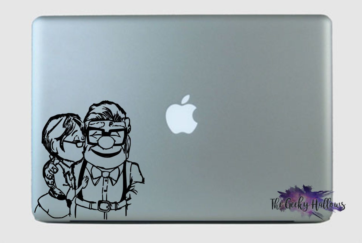 Ellie and carl up adventure is out there pixar disney inspired vinyl sticker macbook car window dec