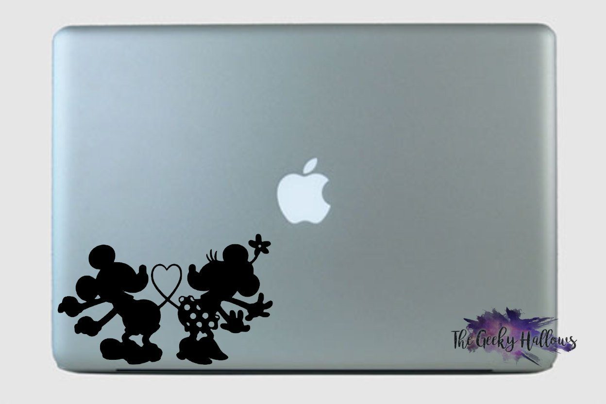 Mickey and minnie love tails disney macbook laptop car window valentines day couples vinyl decal sticker